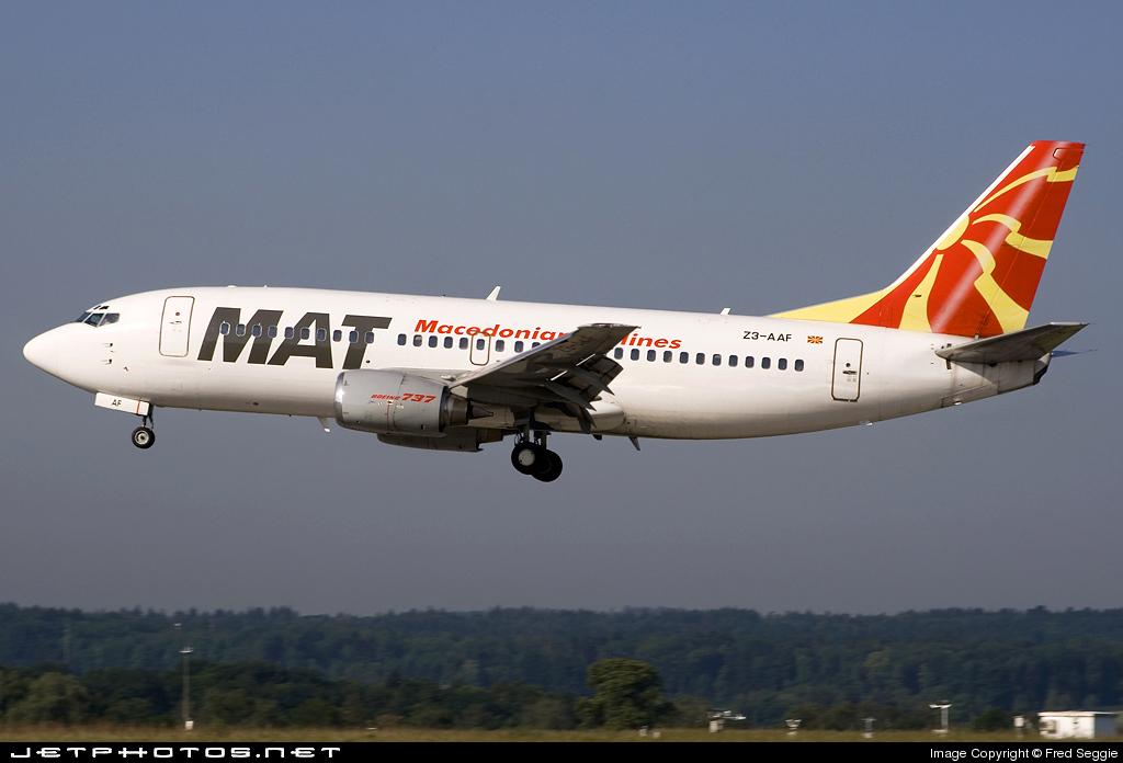 Z3-AAF - Boeing 737-3B7 - MAT Macedonian Airlines