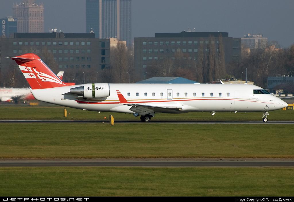 4L-GAF - Bombardier CL-600-2B19 Challenger 850 - Georgian Airways