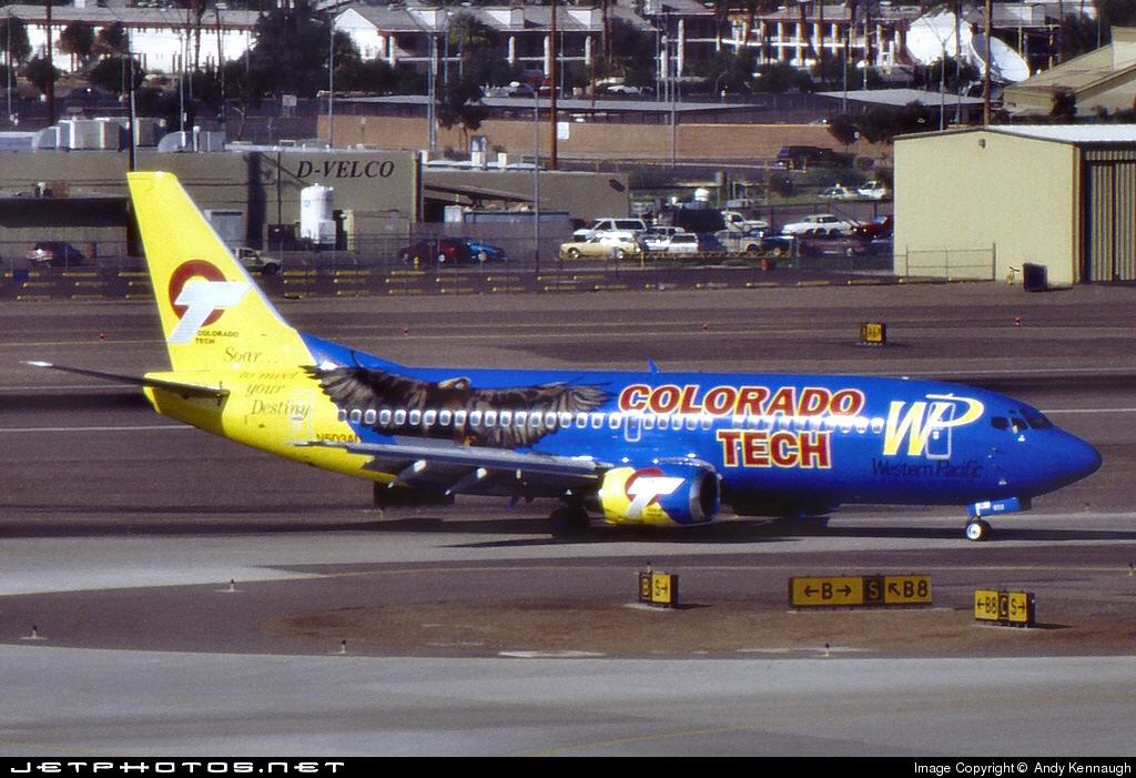 N503AU - Boeing 737-3B7 - Western Pacific Airlines