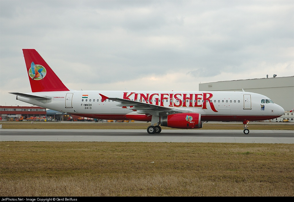 F-WWDH - Airbus A320-232 - Kingfisher Airlines