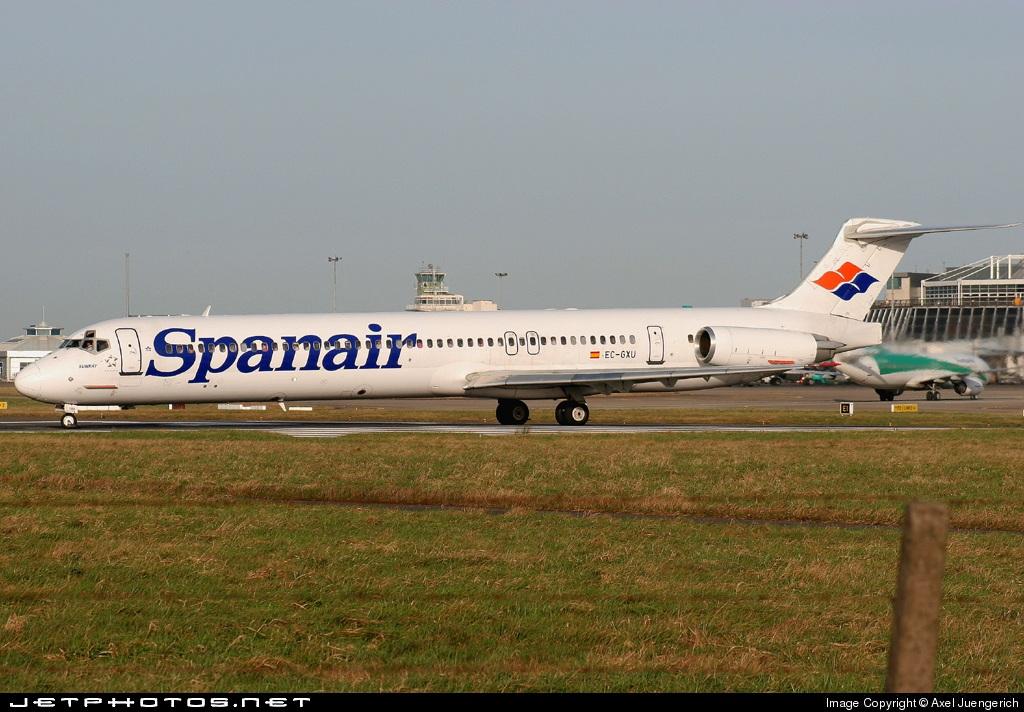 EC-GXU - McDonnell Douglas MD-83 - Spanair