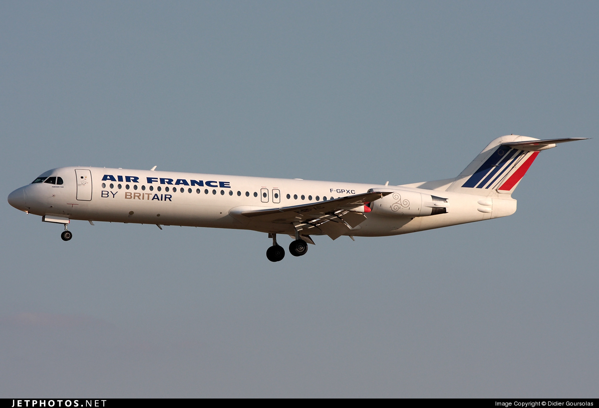 F-GPXC - Fokker 100 - Air France (Brit Air)