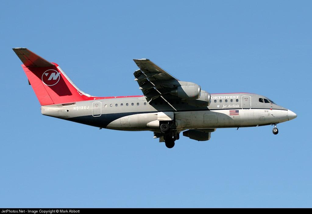 N513XJ - British Aerospace Avro RJ85 - Northwest Airlink (Mesaba Airlines)