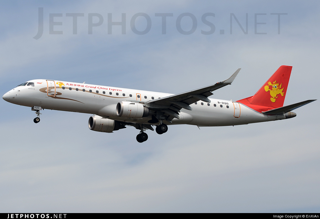 B-3120 - Embraer 190-100IGW - Grand China Express