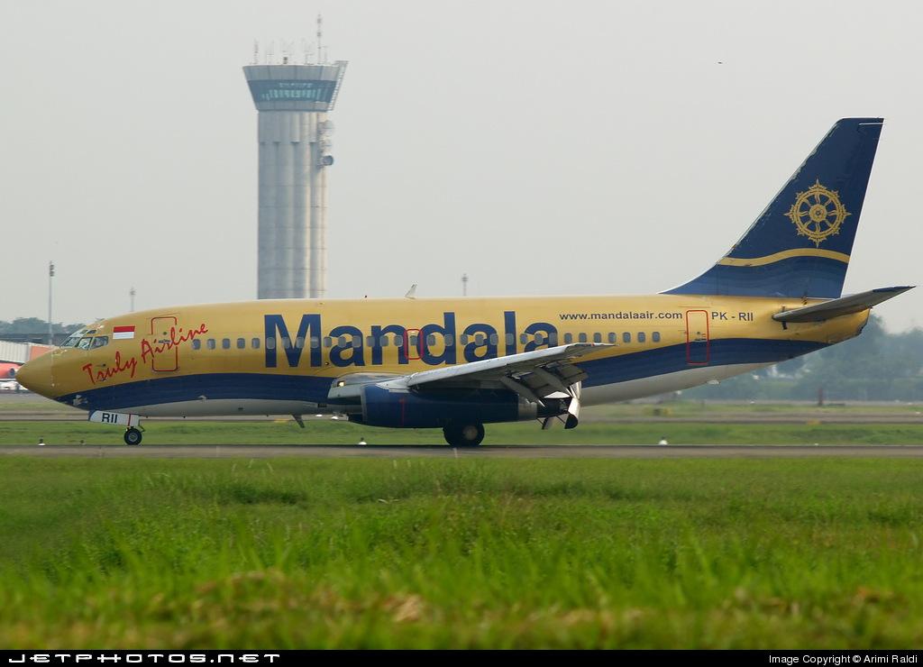 PK-RII - Boeing 737-2E7(Adv) - Mandala Airlines