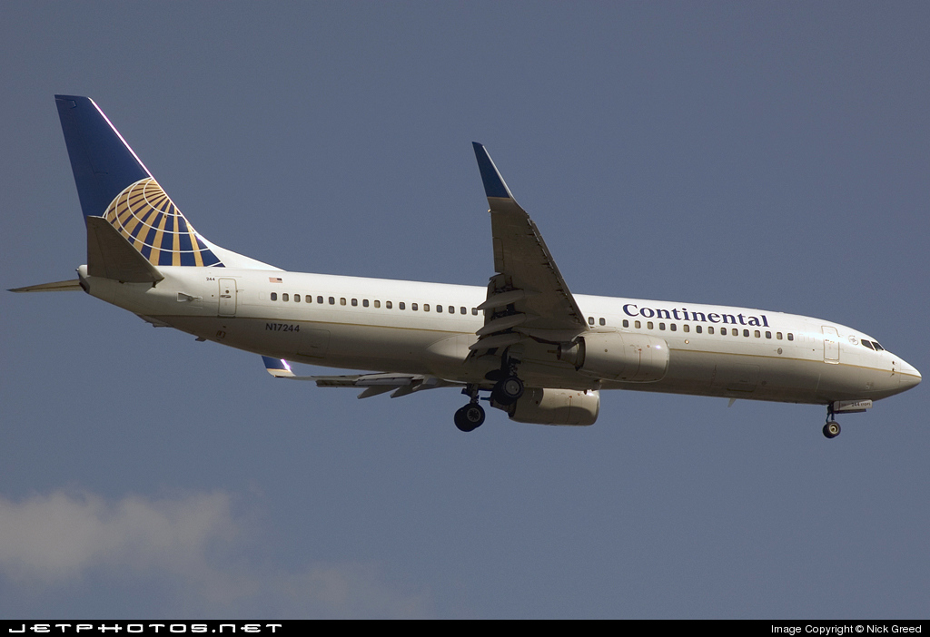 N17244 - Boeing 737-824 - Continental Airlines