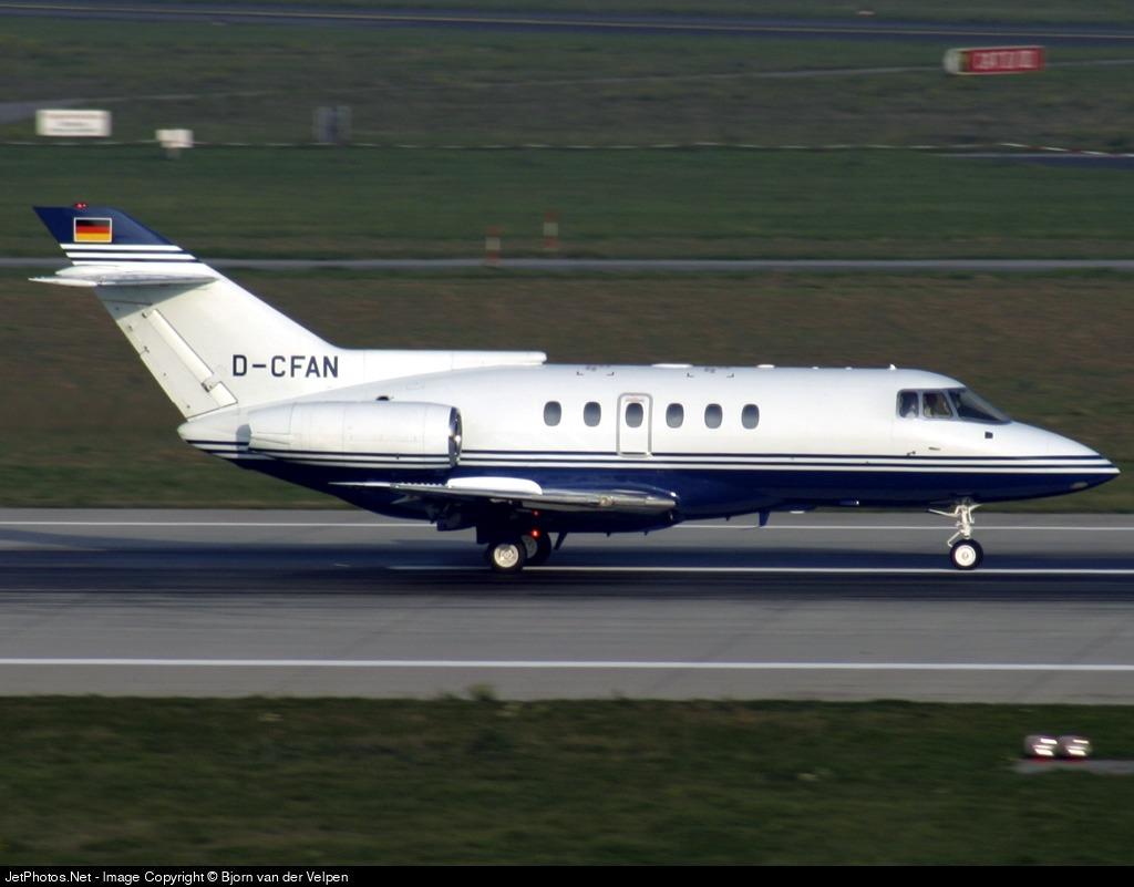 D-CFAN - British Aerospace BAe 125-800B - Blueline