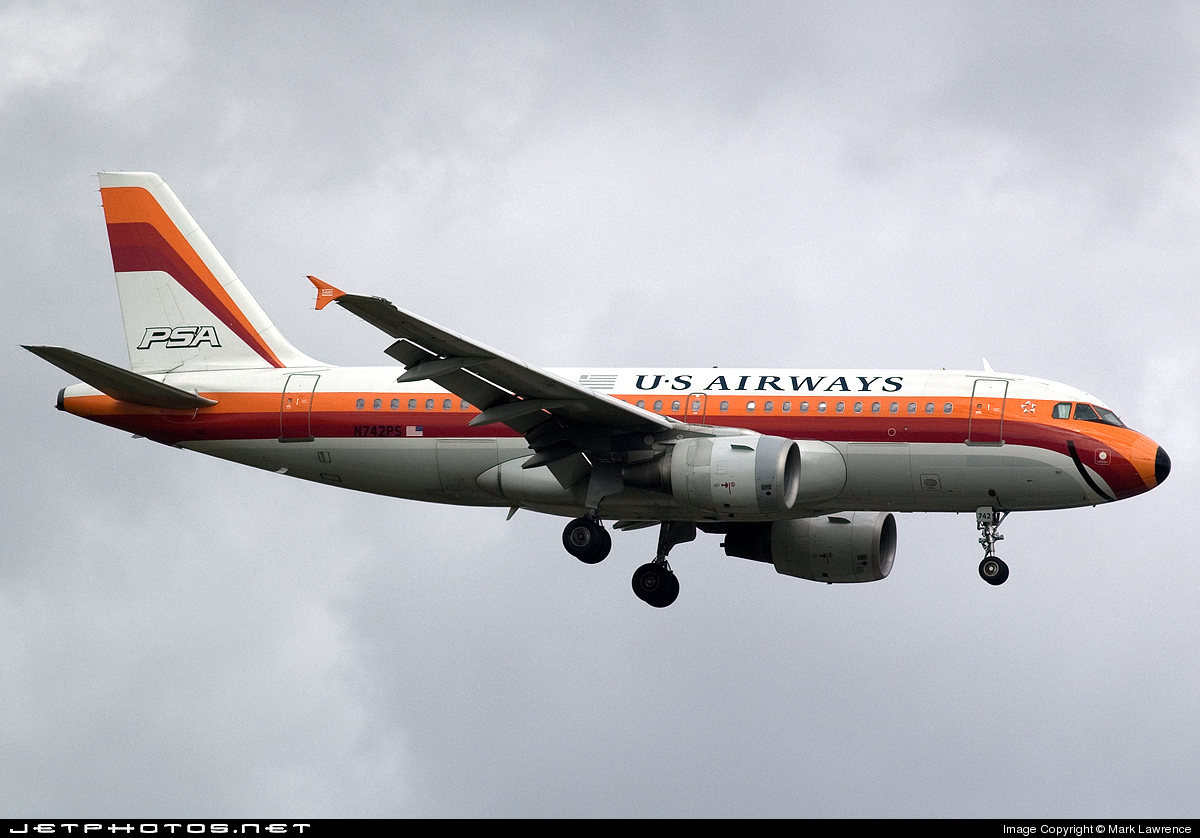 N742PS - Airbus A319-112 - US Airways