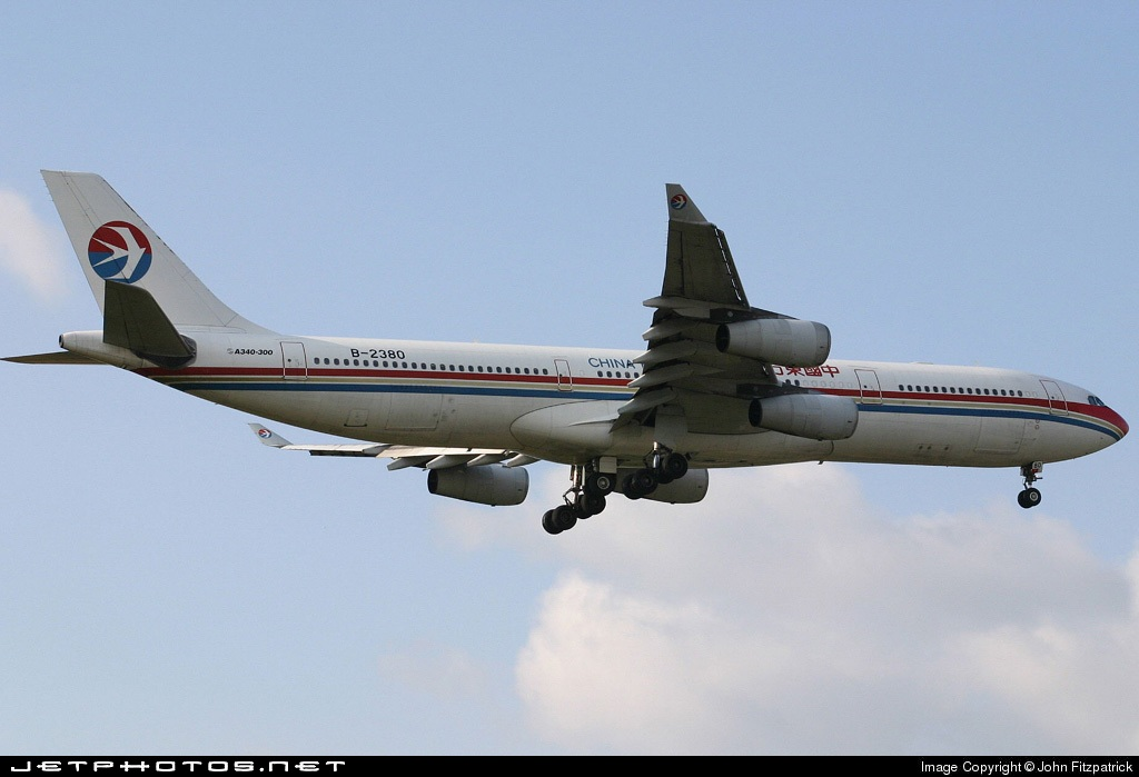 B2380 - Airbus A340-313X - China Eastern Airlines