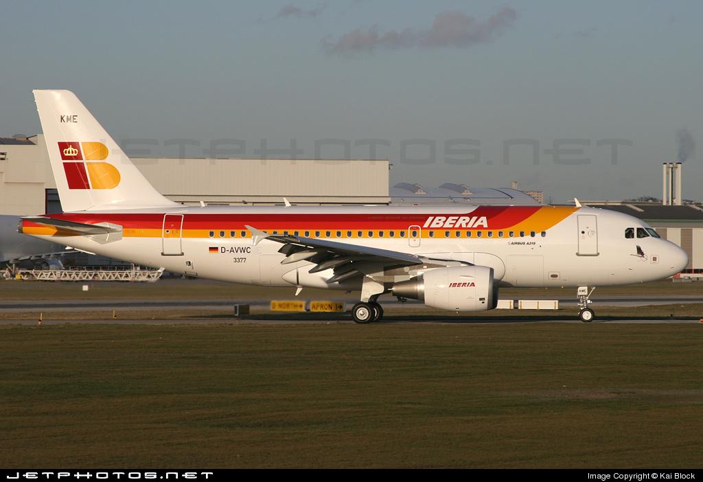 D-AVWC - Airbus A319-111 - Iberia