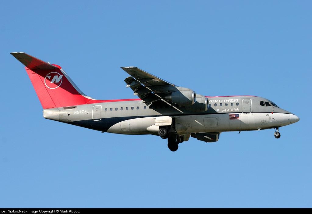 N517XJ - British Aerospace Avro RJ85 - Northwest Jet Airlink (Mesaba Airlines)