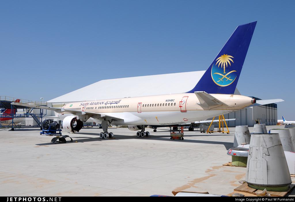 N594BC - Boeing 757-2Q8 - Saudi Arabian Airlines (Eagle Aviation)