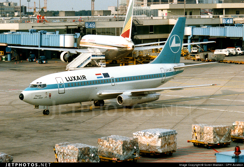 LX-LGI - Boeing 737-2C9(Adv) - Luxair - Luxembourg Airlines