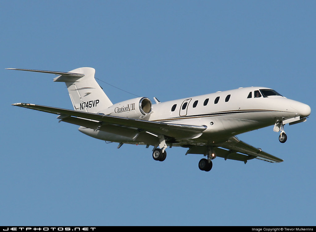 N745VP - Cessna 650 Citation VII - Private