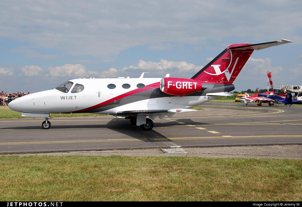 F-GRET - Cessna 510 Citation Mustang - Wijet