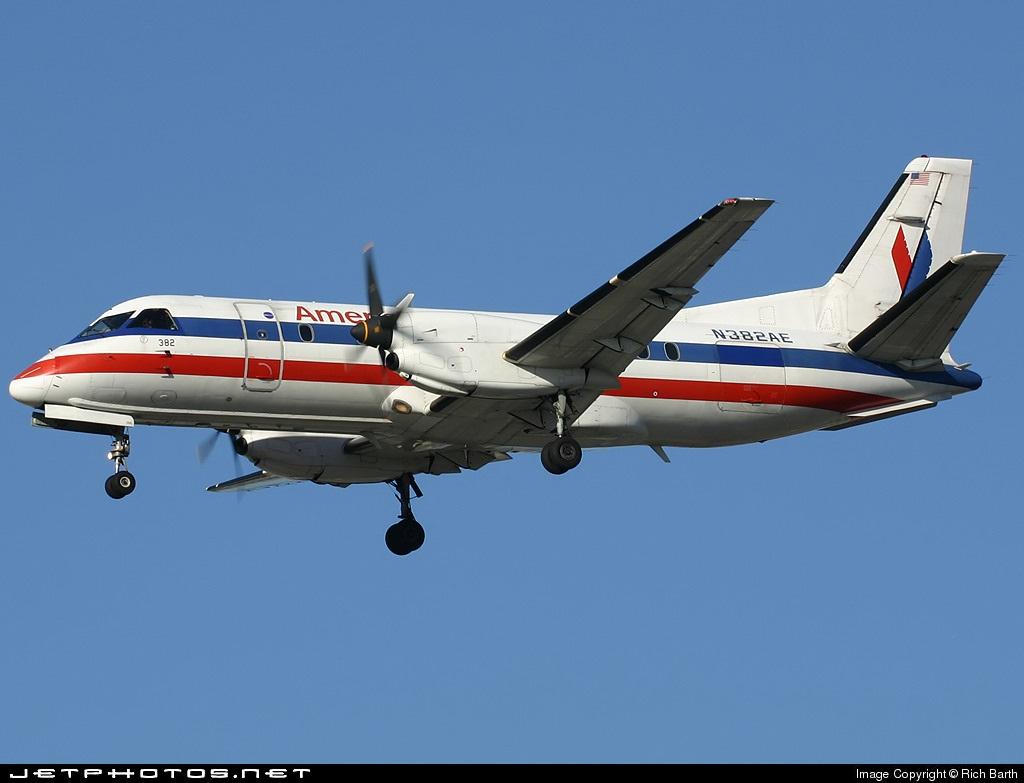 N382AE - Saab 340B - American Eagle