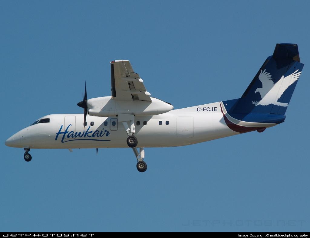 C-FCJE - Bombardier Dash 8-102 - Hawkair Aviation Services