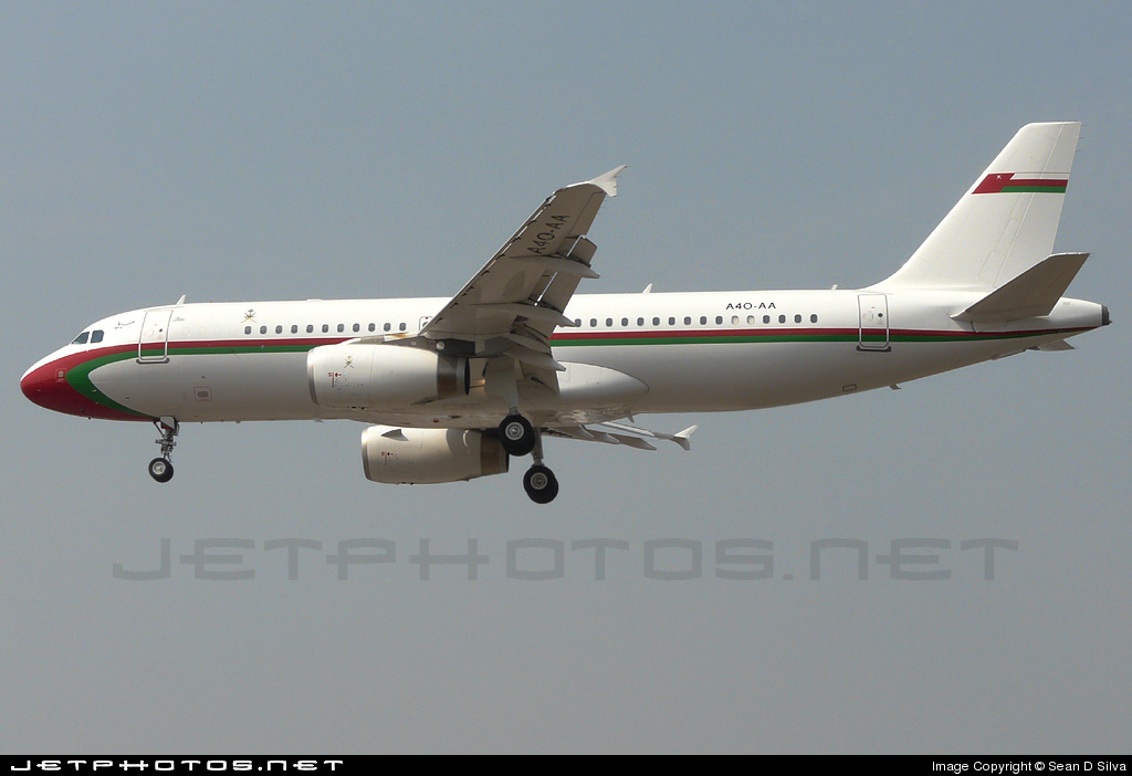 A4O-AA - Airbus A320-232 - Oman - Royal Flight