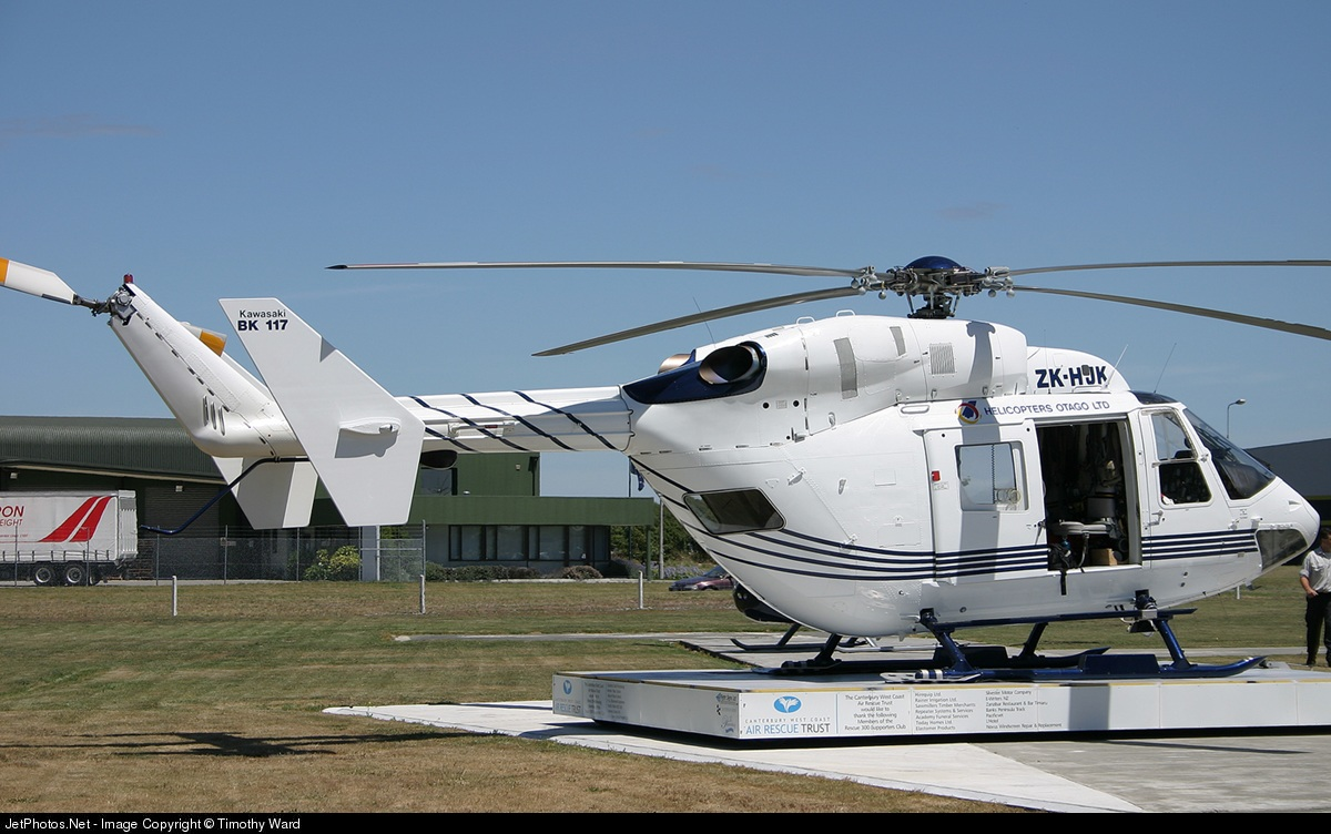 ZK-HJK - MBB-Kawasaki BK117B-2 - Helicopters Otago