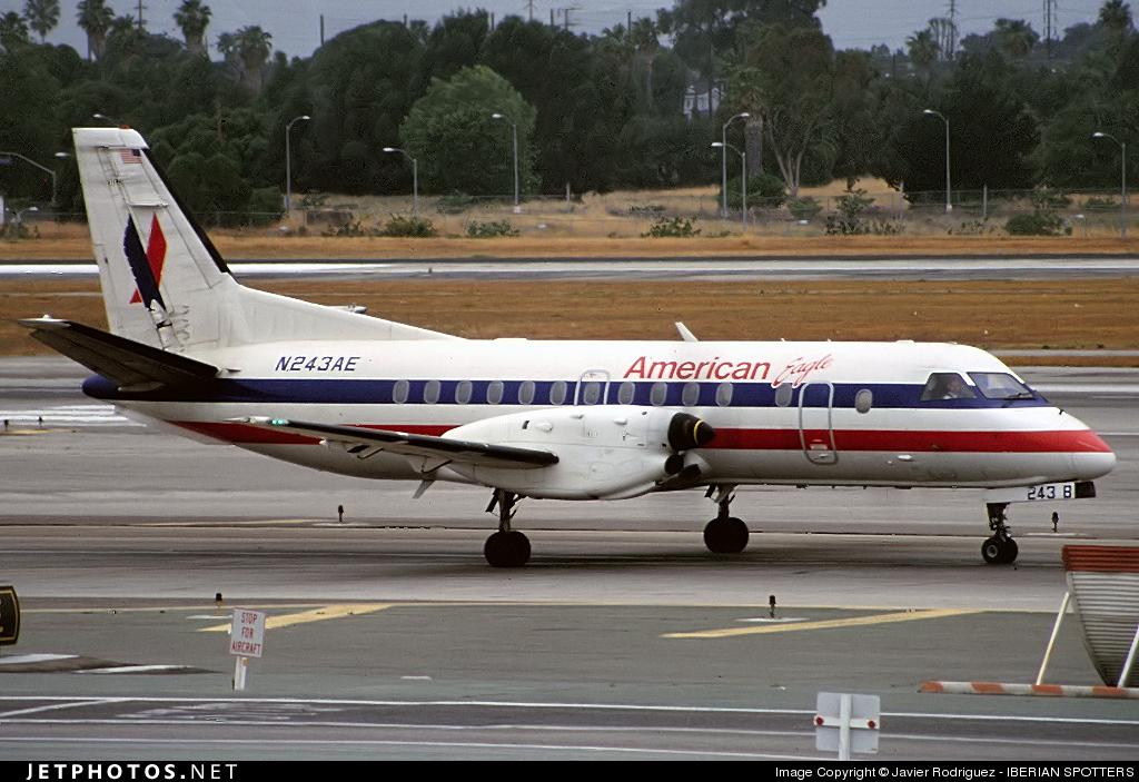 N243AE - Saab 340B - American Eagle
