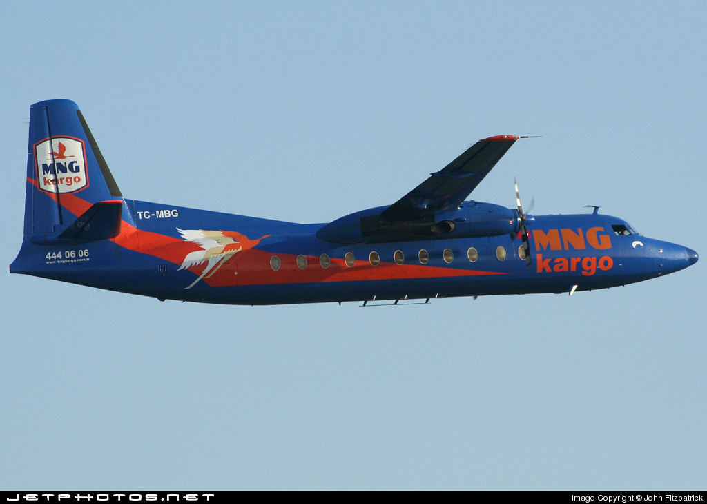 TC-MBG - Fokker F27-500F Friendship - MNG Airlines