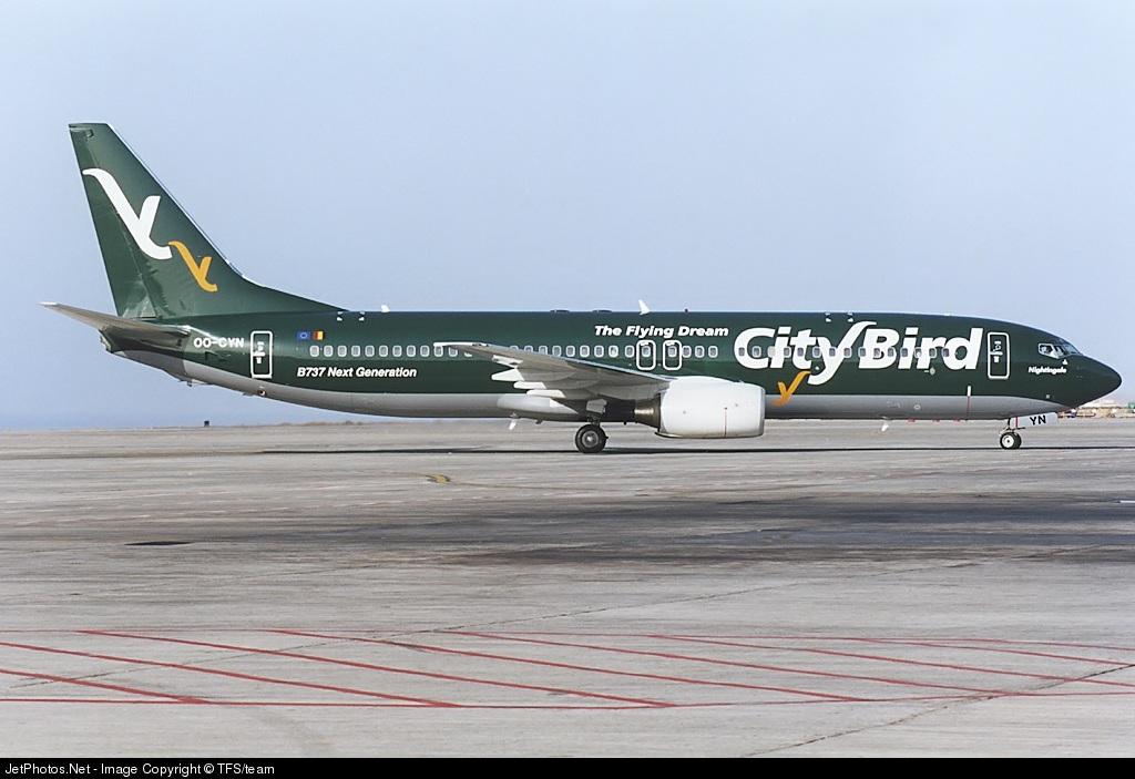 OO-CYN - Boeing 737-86Q - CityBird