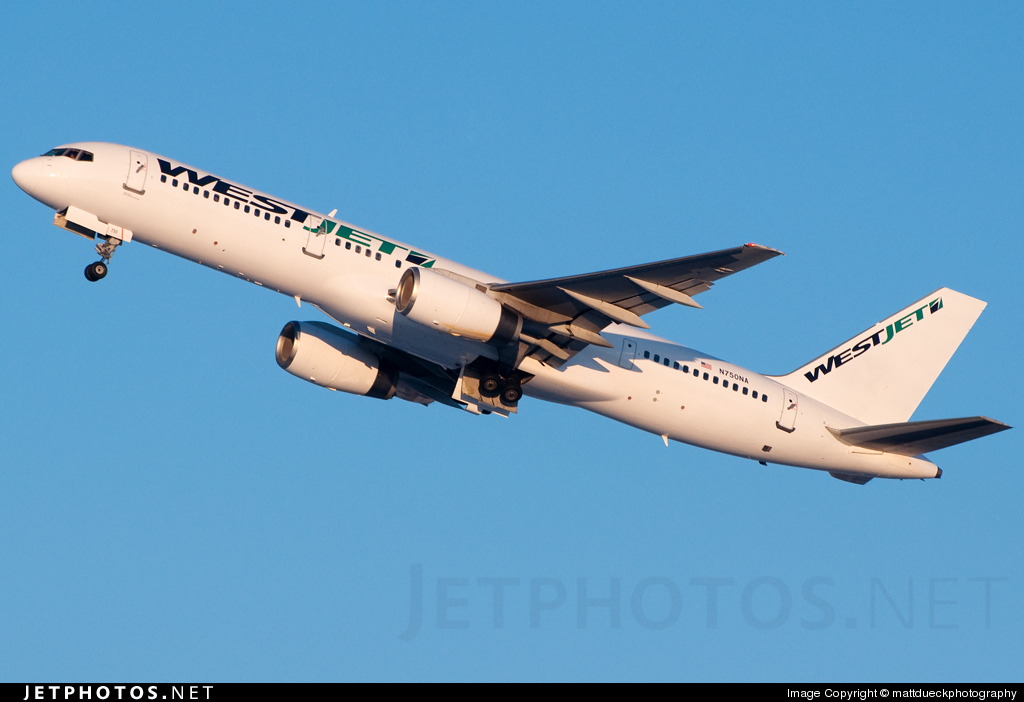 N750NA - Boeing 757-28A - WestJet Airlines (North American Airlines)