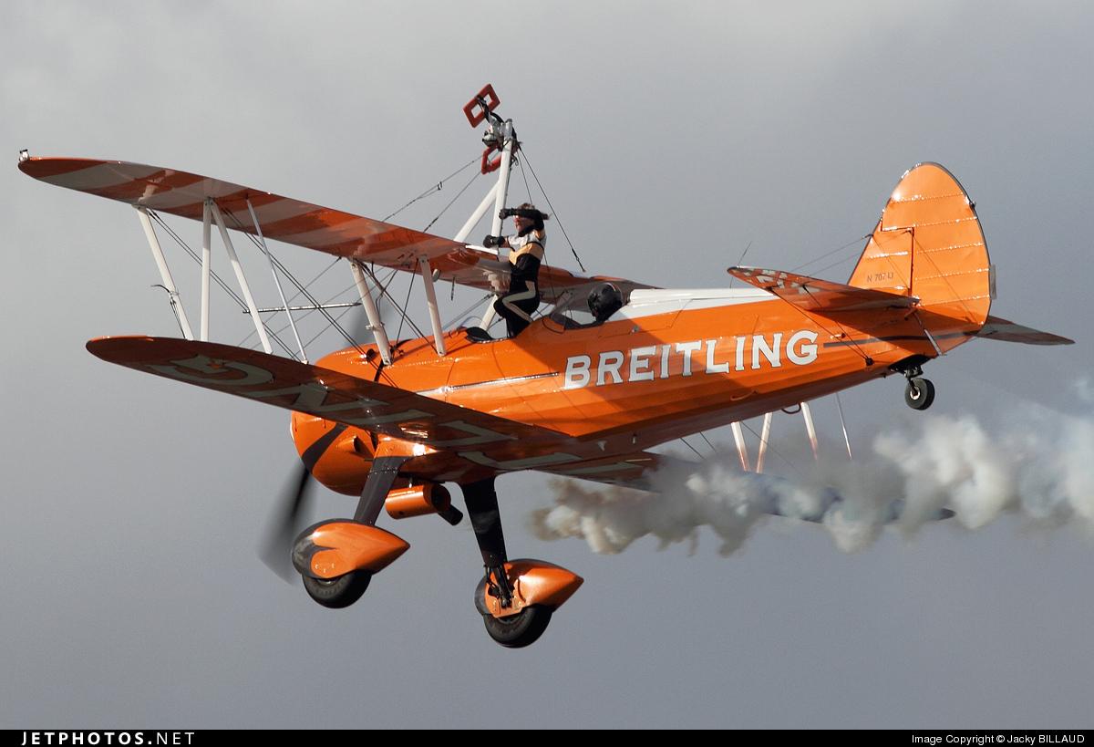 N707TJ - Boeing A75N1 Stearman - Breitling