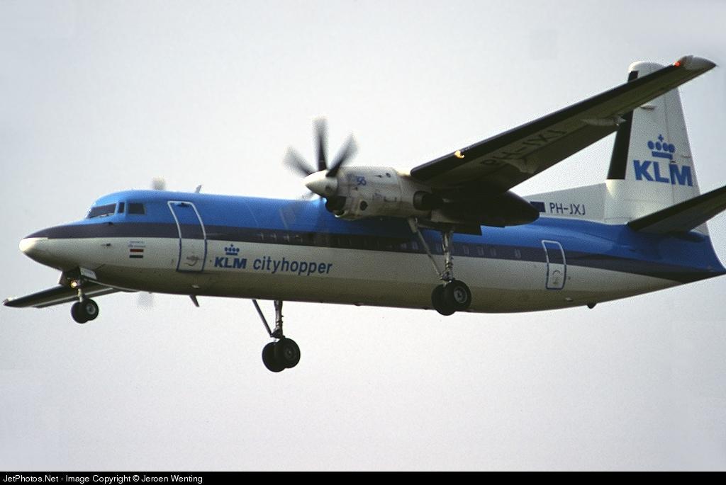 PH-JXJ - Fokker 50 - KLM Royal Dutch Airlines