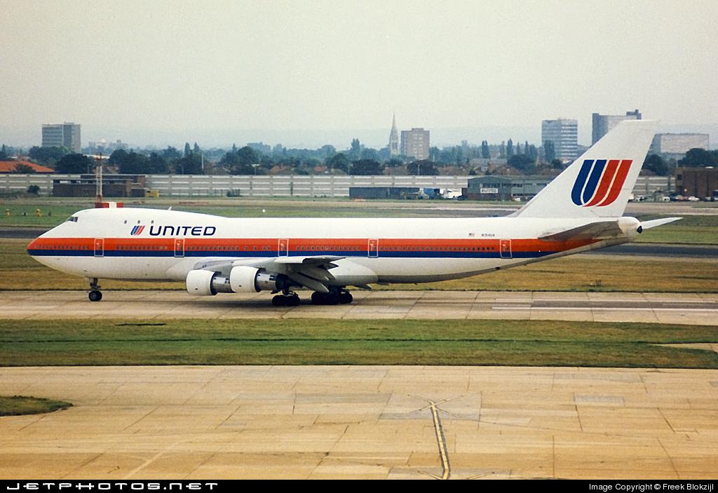 N154UA - Boeing 747-123 - United Airlines