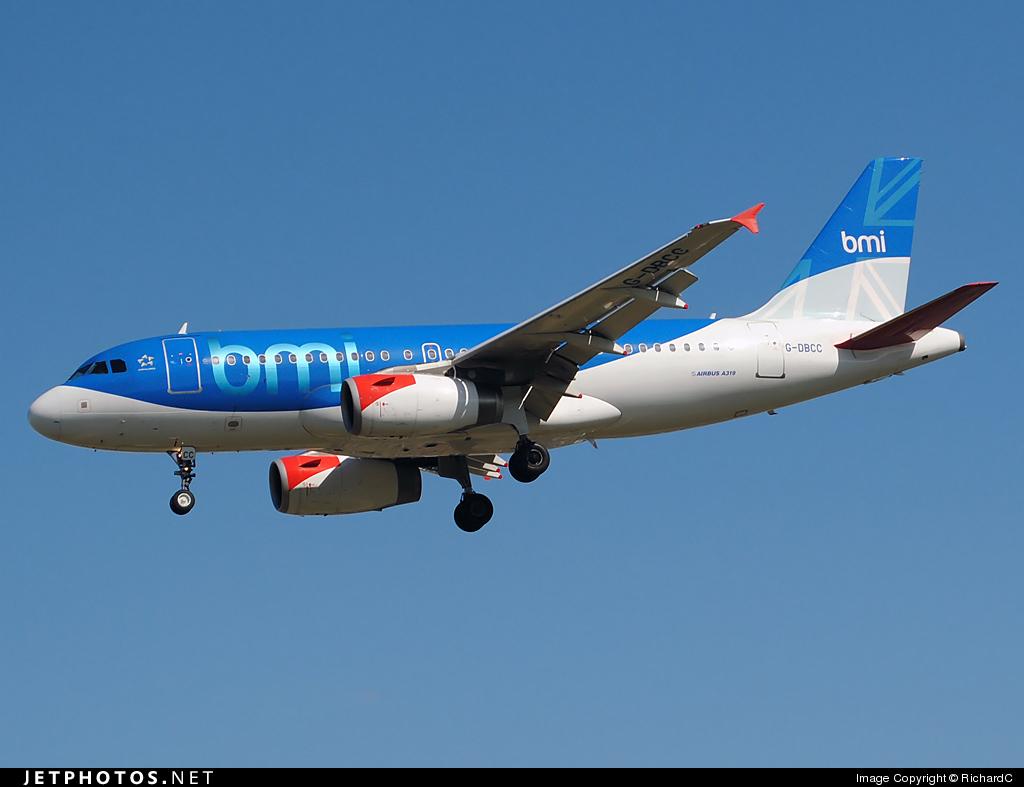G-DBCC - Airbus A319-131 - bmi British Midland International