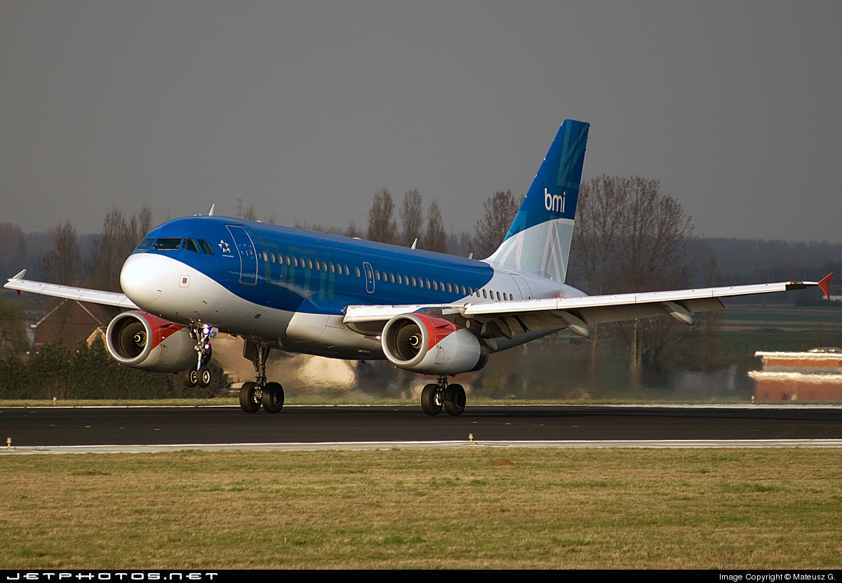 G-DBCB - Airbus A319-131 - bmi British Midland International