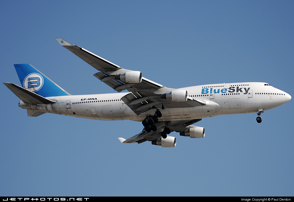EP-MNA - Boeing 747-422 - Blue Sky