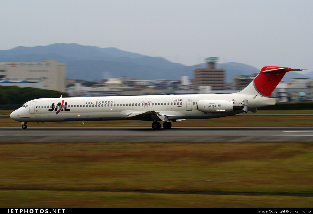 JA8556 - McDonnell Douglas MD-81 - JAL Express
