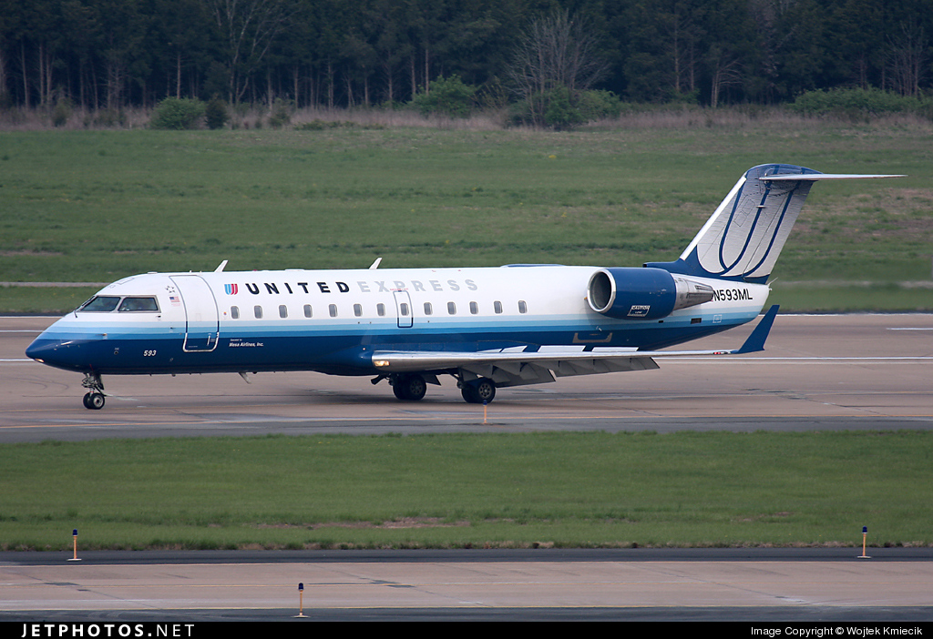 N593ML - Bombardier CRJ-200LR - United Express (Mesa Airlines)