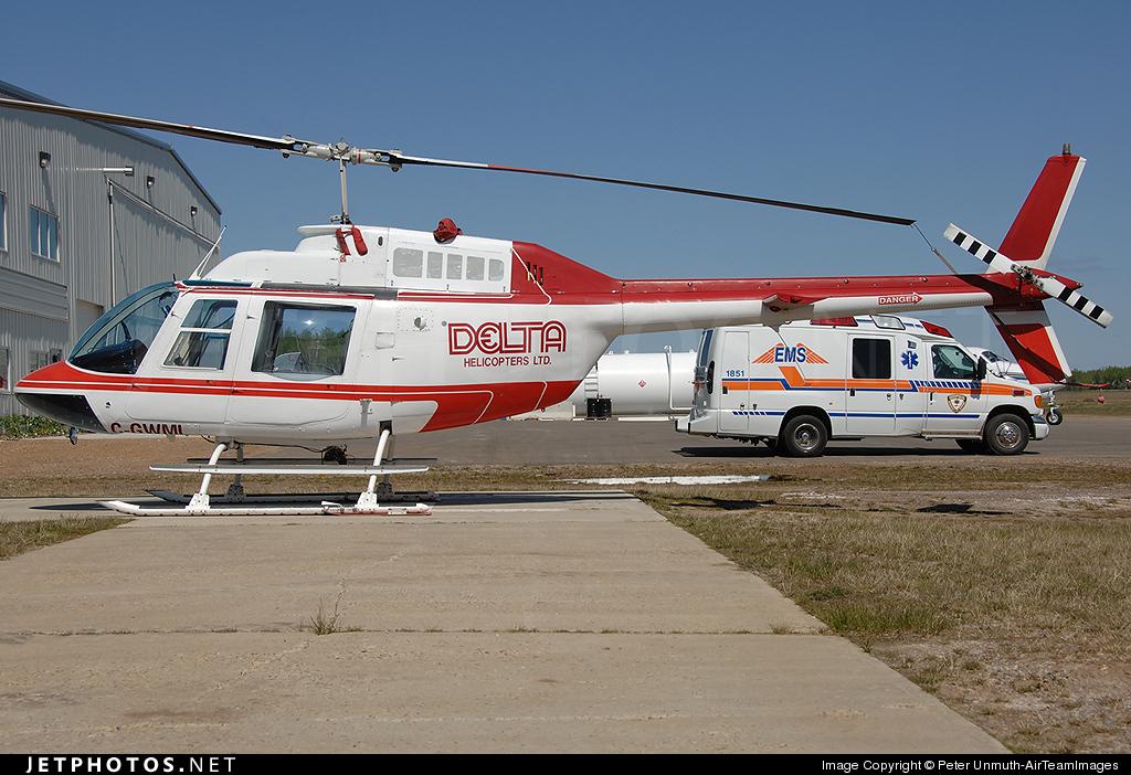 C-GWML - Bell 206B JetRanger - Delta Helicopters