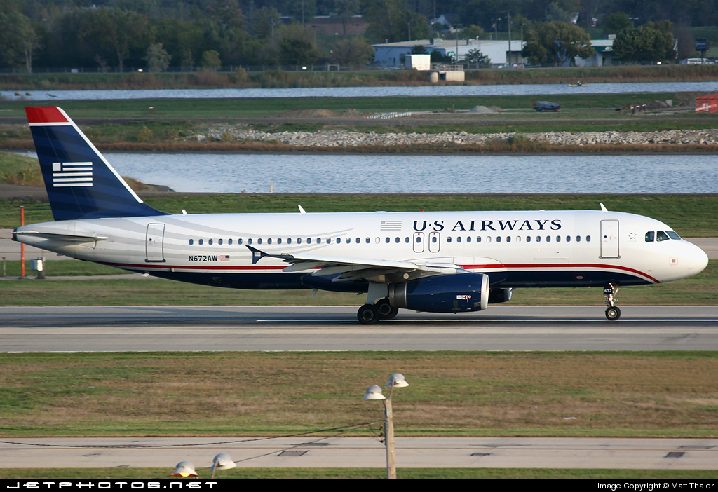 N672AW - Airbus A320-232 - US Airways (America West Airlines)