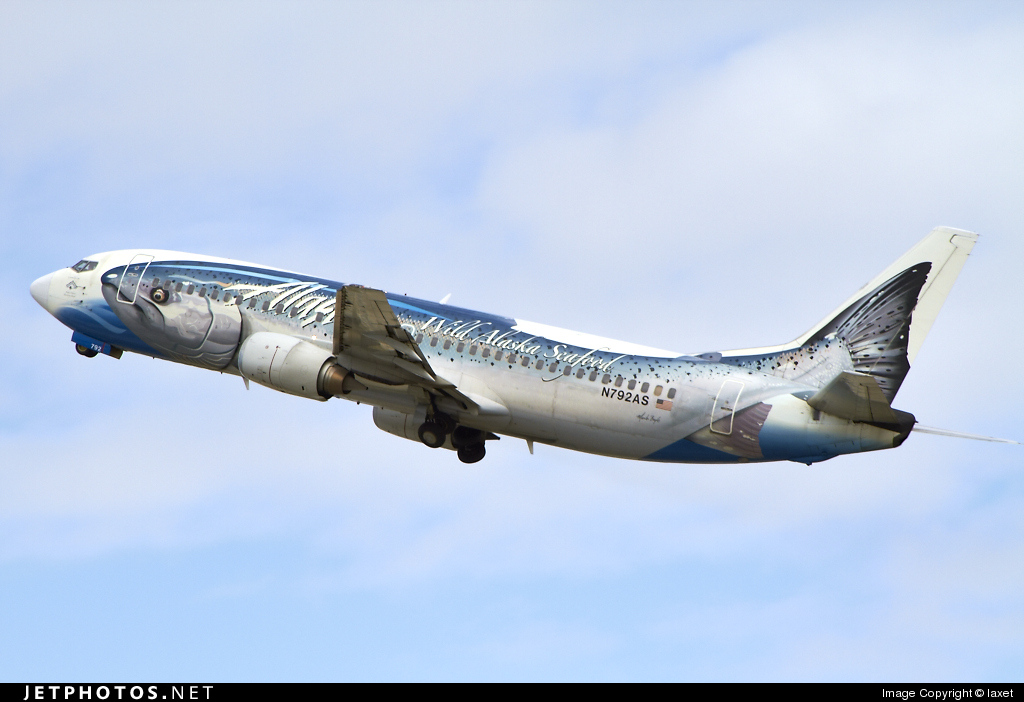 N792AS - Boeing 737-490 - Alaska Airlines