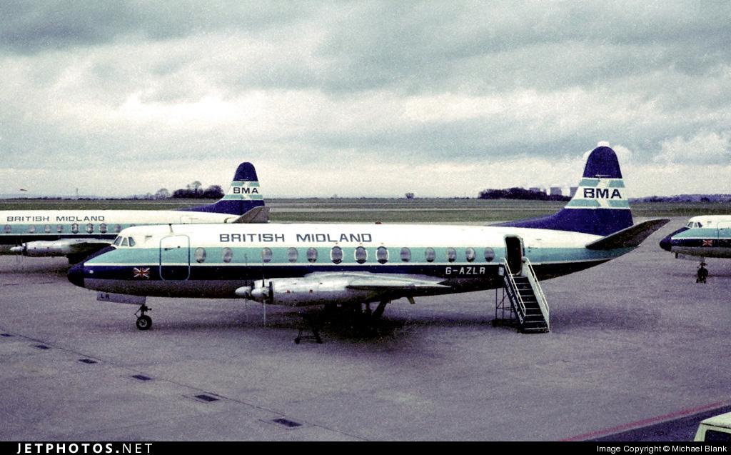 G-AZLR - Vickers Viscount 813 - British Midland
