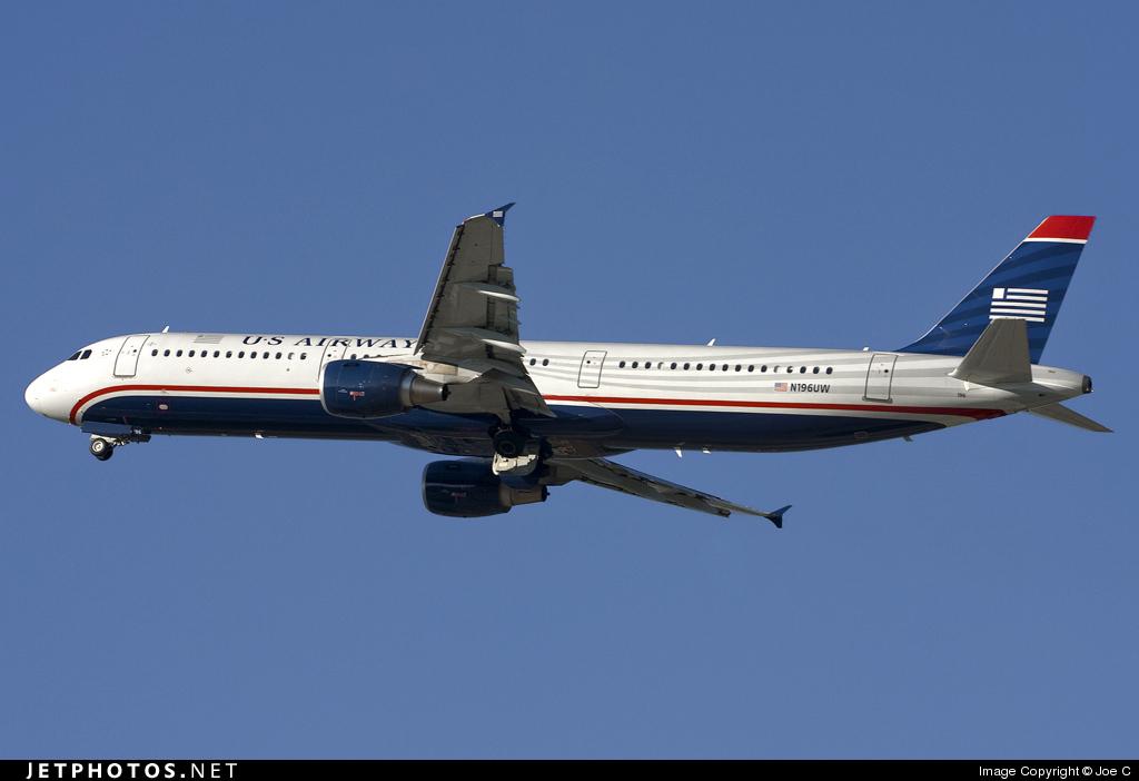 N196UW - Airbus A321-211 - US Airways