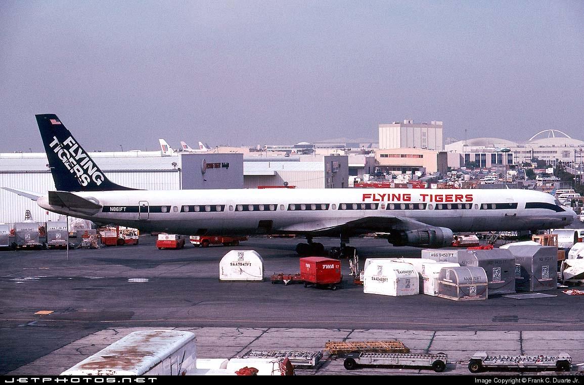 N861FT - Douglas DC-8-61(CF) - Flying Tigers