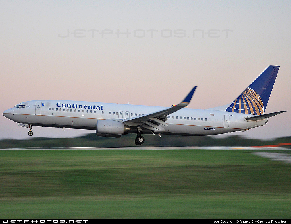 N33286 - Boeing 737-824 - Continental Airlines