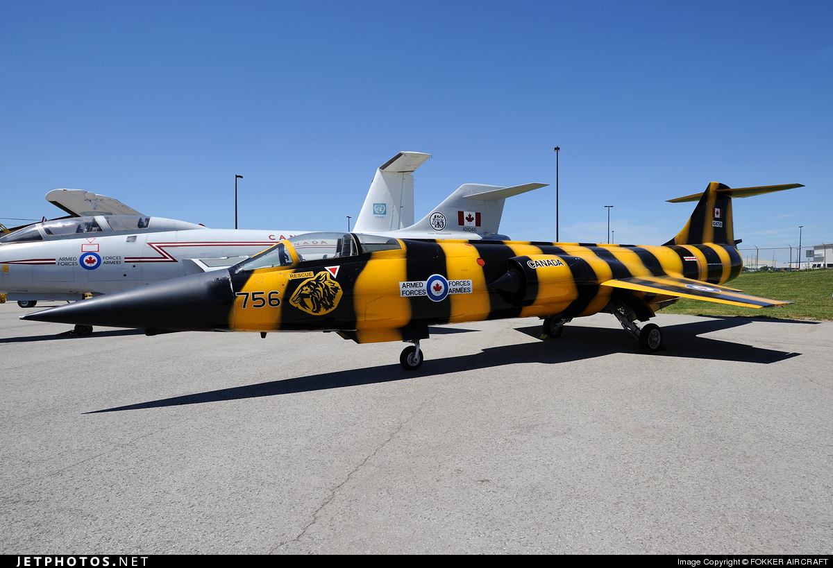 104756 - Lockheed CF-104 Starfighter - Canada - Royal Canadian Air Force (RCAF)