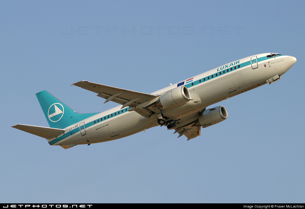 LX-LGG - Boeing 737-4C9 - Luxair - Luxembourg Airlines