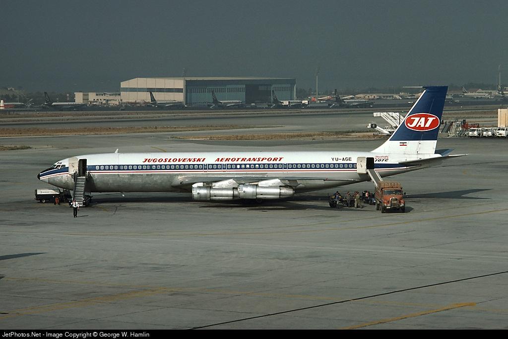YU-AGE - Boeing 707-340C - JAT Yugoslav Airlines