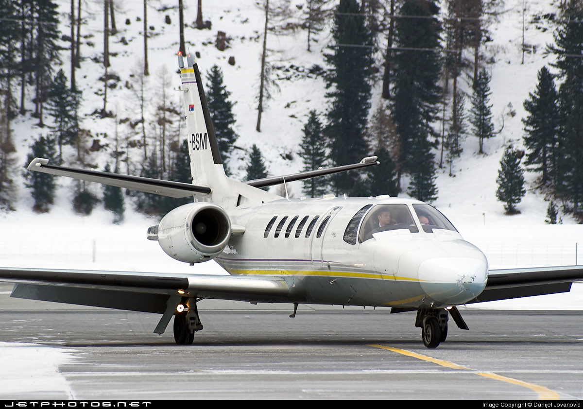 YU-BSM - Cessna 550B Citation Bravo - Prince Aviation