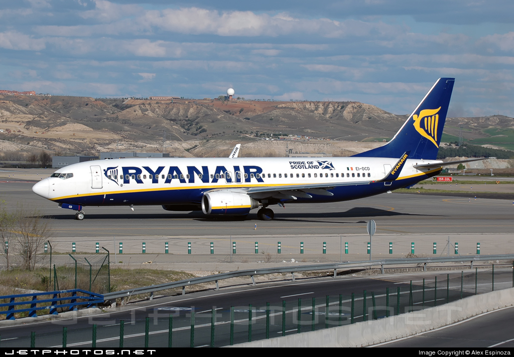 EI-DCD - Boeing 737-8AS - Ryanair