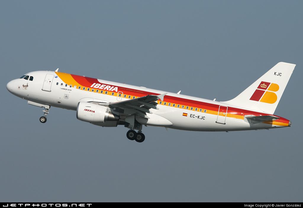 EC-KJC - Airbus A319-111 - Iberia