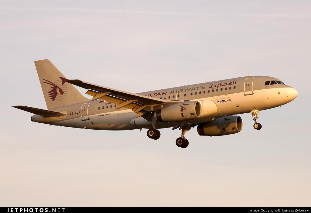 A7-CJA - Airbus A319-133(LR) - Qatar Airways