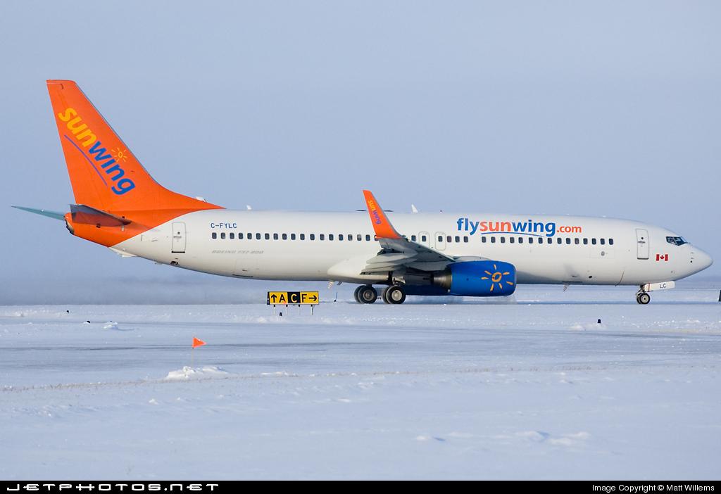 C-FYLC - Boeing 737-8BK - Sunwing Airlines